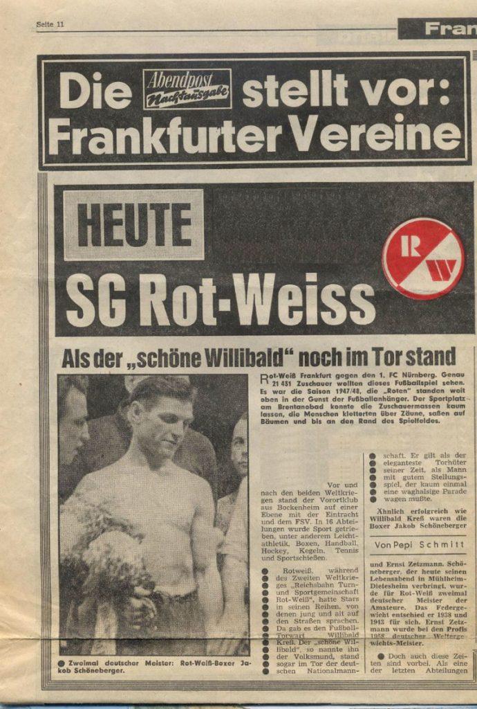 Vereinsgeschichte Rot Weiss Frankfurt