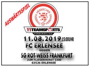 11Teamsports Verbandsliga: Auswärts in Erlensee