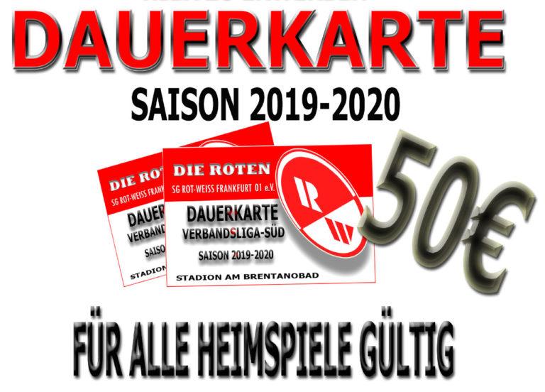 Dauerkarten Saison 2019/20 ab sofort verfügbar