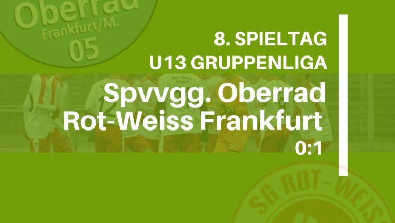 U13 Gruppenliga: Rot-Weiss holt drei Punkte aus Oberrad