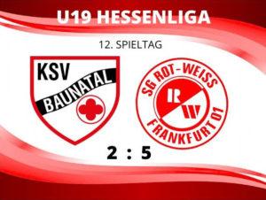 U19 Hessenliga: Rot-Weiss Frankfurt landet wichtigen Dreier