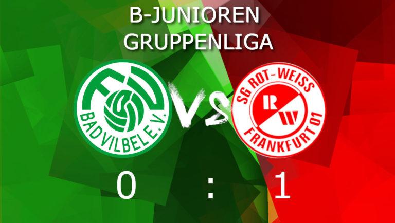 U16 schafft wichtigen Sieg gegen den Tabellenführer FV Bad Vilbel