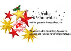Rot-Weiss Frankfurt wünscht Frohes Fest und einen guten Rutsch ins neue Jahr!