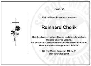 Ehemaliger RW Spieler Reinhard Chelik verstorben